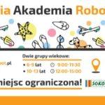 Plakat letniej akademii robotyki 2019