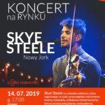 Plakat konceru na rynku w Pobiedziskach na 14 lipca 2019