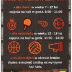 Plakat na tydzień sportu w Stęszewie od 15 lipca 2019