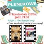 Plakat kina plenerowego na 27 lipca 2019 w Rokietnicy