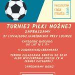 Plakat na turniej piłki nożnej na 27 lipca 2019 w Luboniu