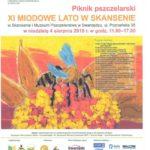 Plakat na piknik pszczelarski na 4 sierpnia 2019 w Swarzędzu