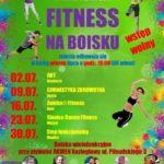 Plakat fitness na boisku na lipiec 2019 w Koziegłowach