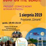 Plakat na zajęcia fitness na 1 sierpnia 2019 w Mosinie