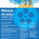 Plakat wakacji dla dzieci w Buku w lipcu 2019