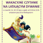 Plakat wakacyjnego czytania w lipcu 2019 w Buku
