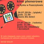 Plakat kina plenerowego w Puszczykowie na 26 i 27 lipca 2019