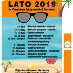 Plakat dla seniorów na lato 2019 w Swarzędzu