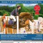 Plakat przygotowany na zawody konne w Wirach 2019