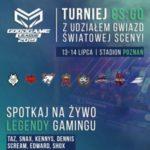 Plakat na turniej gamingu na 13 i 14 lipca w Poznaniu