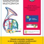 Plakat rumpuciowych warsztatów muzycznych od 26 do 28 sierpnia 2019 w Rokietnicy