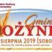 Plakat na dożynki gminne w Zalasewie na 24 sierpnia 2019