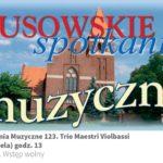 Plakat na spotkania muzyczne w Lusowie na 8 września 2019
