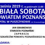 Plakat na Białą Sobotę w Puszczykowie na 7 września 2019