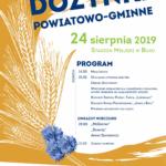 Plakat na dożynki powiatowo-gminne w Buku na 24 sierpnia 2019