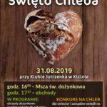 Plakat na święto chleba na 31 sierpnia 2019 w Kicinie