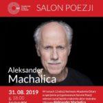 Plakat na spotkanie z poezją na 31 sierpnia 2019 w Pobiedziskach