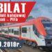 Plakat 140 lecia linii kolejowej Poznań - Piła