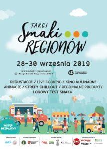 Plakat na targi Smaki Regionów od 28 do 30 września 2019 na MTP w Poznaniu