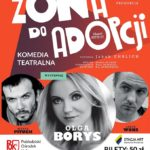 Plakat komedii teatralnej w Pobiedziskach na 11 października 2019