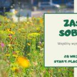 Plakat na wysiew łąki kwietnej w Luboniu na 28 września 2019