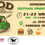 Plakat na festwial smaków w Komornikach od 21 do 22 września 2019