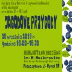 Plakat na Jagodowe Przygody na 26 września 2019 w Puszczykowie