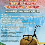Plakat na rajd rowerowy w Zielątkowie na 6 października 2019