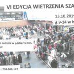 Plakat VI edycji akcji Wietrzenia Szaf w Rokietnicy na 13 października 2019