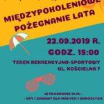 Plakat na pożeganie lata w Puszczykowie na 22 września 2019