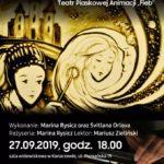 Plakat na teatr animacji w Konarzewie na 27 września 2019