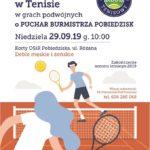 Plakat na zawody tenisowe na 29 września 2019 w Pobiedziskach