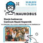 Plakat naukobusu w Owińskach na 30 września i 1 października 2019