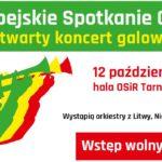 Plakat spotkania orkiestr w Tarnowie Podgórnym na 12 października 2019