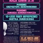 Plakat festiwalu piosenki polskiej w Luboniu od 4 do 6 października 2019