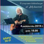 Plakat na kabaret na 4 października 2019 w Puszczykowie