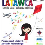 Plakat na święto latawca w Letnisku Leśnym na 6 października 2019