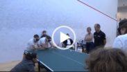 Kadr filmu o tenisie stołowym dźwiękowym