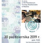 Plakat na turniej rzeźbiarski w Mosinie na 30 października 2019