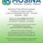 Plakat sprzątania świata Mosina 2019