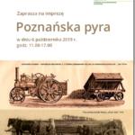 Plakat wydarzeń Poznańska Pyra 2019
