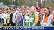 Kadr filmu z inauguracji współzawodnictwa szkolnego