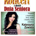 Plakat na koncert seniora na 26 października 2019 w Murowanej Goślinie