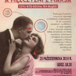 Plakat na operetkę i musical na 25 paździenika 2019 w Puszczykowie