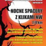 Plakat na nocny spacer z kijkami w Rakowni i Pawłowie