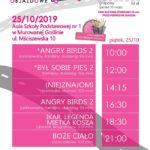 Plakat na kino objazdowe na 25 października 2019 w Murowanej Goślinie