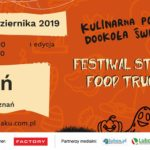 Plakat food trucków w Luboniu na 26 i 27 października 2019
