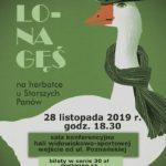 Plakat na zajęcia dla seniorów na 28 listopada 2019 w Puszczykowie