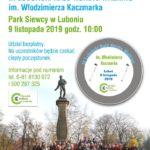 Plakat na rajd nordic walking w Luboniu na 9 listopada 2019