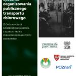 Plakat na konferencję o transporcie publicznym na 22 listopada 2019 w Poznaniu